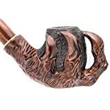 Pear Wood Hand Carved Tobacco Smoking Pipe Claw + Pouch