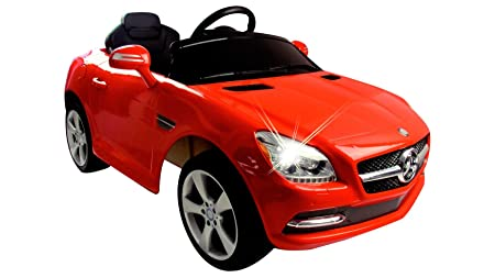 Jamara - 404608 - Maquette - Voiture - Ride On Car - Mercedes Benz Slk Class 2010 - Rouge - 6 Pièces