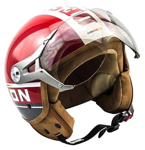SOXON SP-325 Plus rouge casque JET moto Urban Cruiser Pilot helmet - XS S M L XL