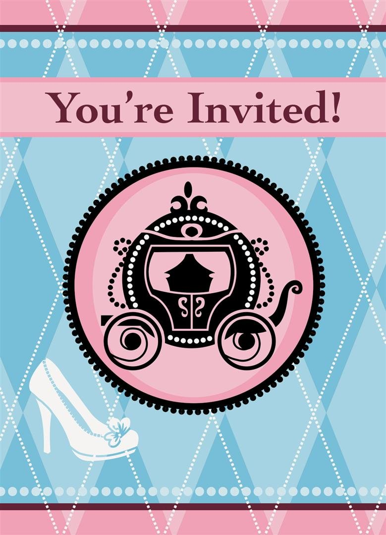 Cinderella Birthday Party Invitations Page Two   Birthday Wikii