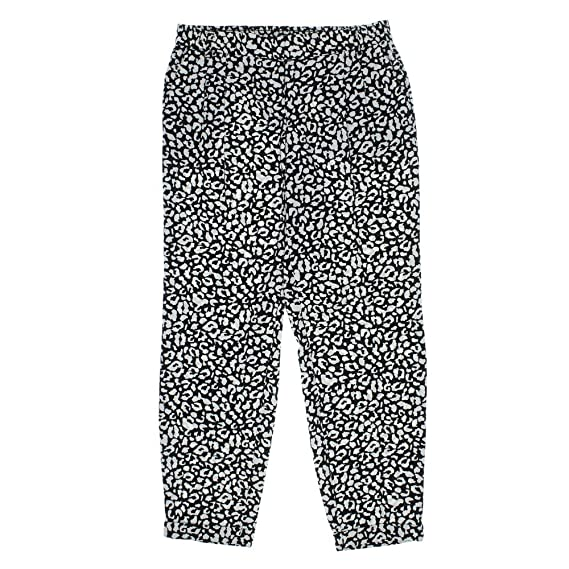 Bar III Womens Animal Print Elastic Casual Pants