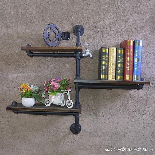 XIXI Stile Industriale Ricorda i tubi dell'acqua del mensola del rack di scaffale del rack dei mensole di ferro montati sulle pareti,UN