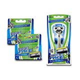 Dorco Pace 6 Plus- Six Blade Razor System with Trimmer - 10 Pack (1 Handle + 10 Cartridges) (Tamaño: 10 Pack + 1 Handle)