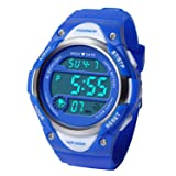 HIwatch Kids Sport Watch Water-Resistant Swimming LED Digital Watch with Alarm Back Light Stopwatch for Boys Girls 7+ Years Old, for School Boys (Color: Blue)