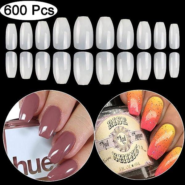 Kissbuty 500 Pcs Natural Color French False Acrylic Nail Art Tips 10