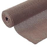 Grip Liner Non-Adhesive Shelf Liner, Anti-Slip Mat Drawer Liner 12 in. x 20 ft. (Brown) (Color: Brown, Tamaño: 60