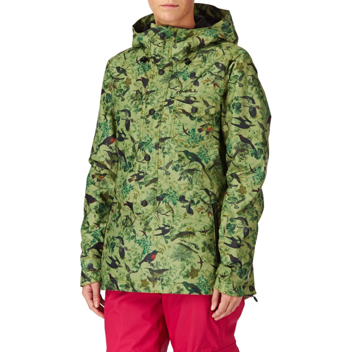 Womens Crystal Snowboard Jacket white aop