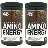 Optimum Nutrition Amino Energy 30 Servings Iced Mocha Cappucino (Pack of 2)