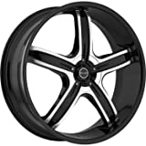 Akuza Lever 18 Black Wheel / Rim 4x100 & 4x4.5 with a 45mm Offset and a 73 Hub Bore. Partnumber 844880810+45GBM