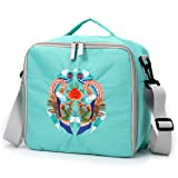 Embroidered Large Storage Tote Bag for Marker Pens Brush Pen Coloring Pencils Art and Crafts Supplies Tools Cosmetics (Green Phoenix Embroidery) (Color: Green Phoenix Embroidery)