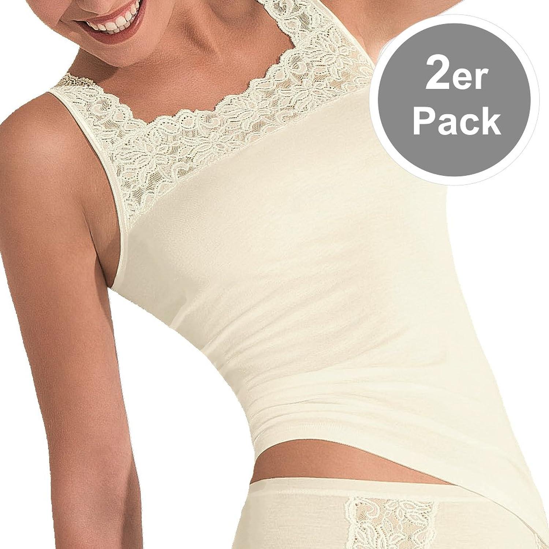 POMPADOUR Damen – Nostalgie 580 – Achseltop / Unterhemd – 2er Pack online bestellen