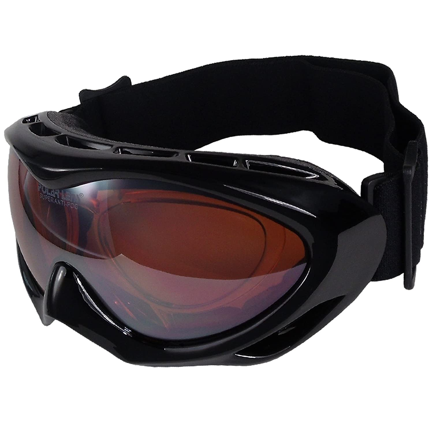 Polarlens PG25 Ski Goggles / Snowboard Goggles / Sunglasses with correction for frame glasses + Cleaning Pouch