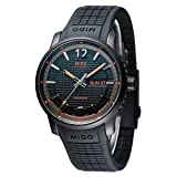 Mido M0196313705700 Great Wall Mens Watch - Black Dial Stainless Steel Case Automatic Movement (Color: Black)