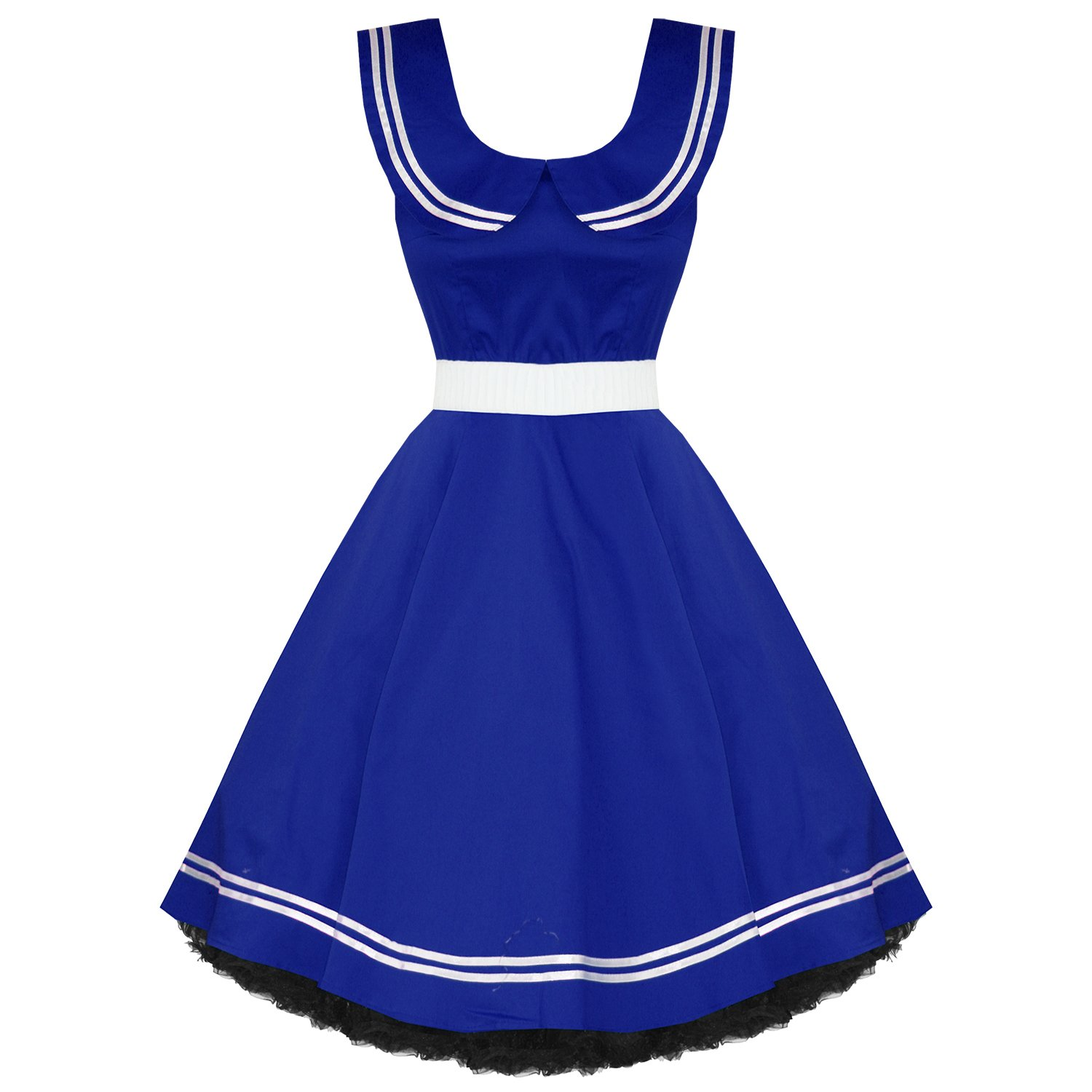 50s Nautical Swing Dress