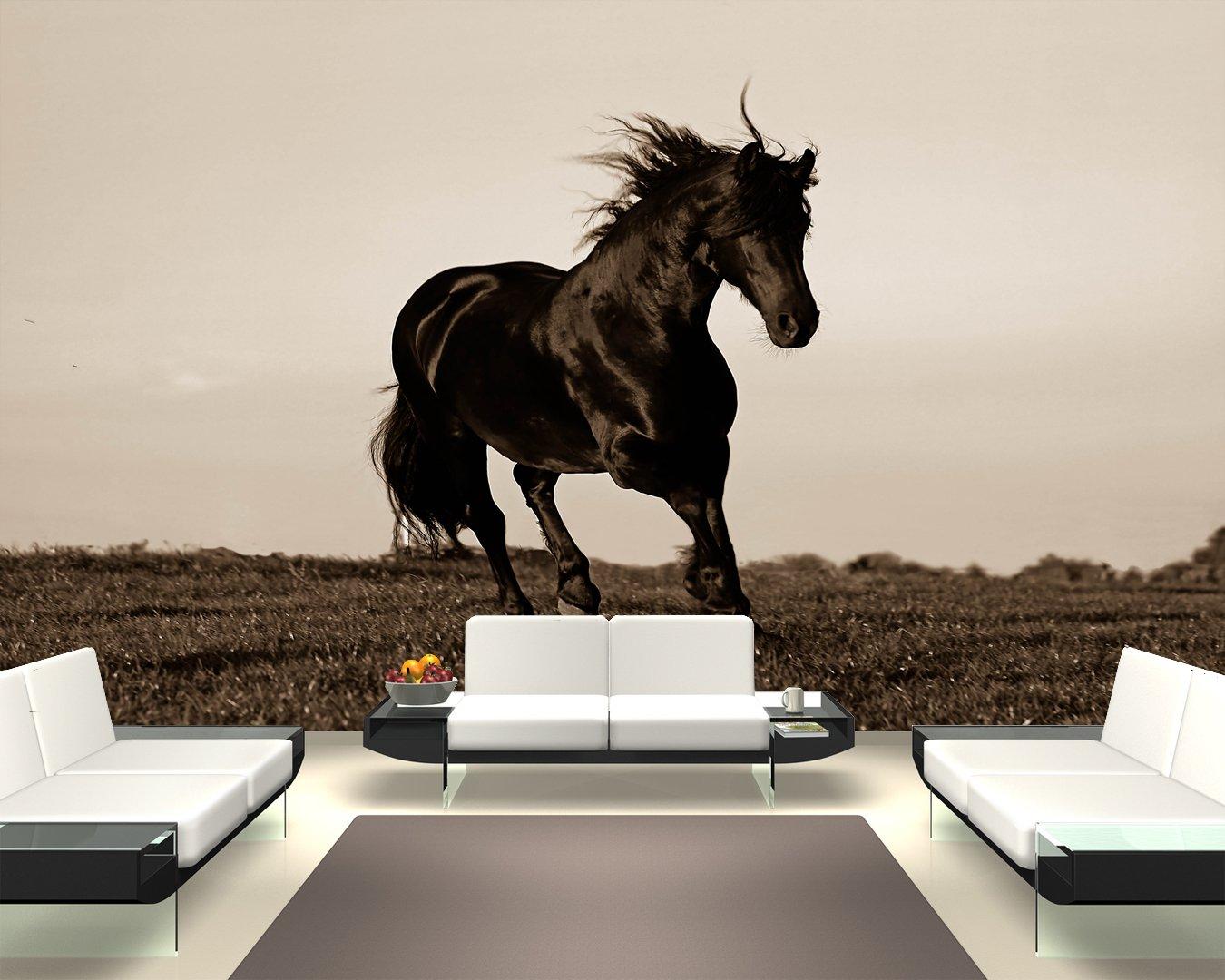 Bilderdepot24 selbstklebende Fototapete Pferd  sephia 360x230 cm  direkt vom Hersteller   Bewertungen und Beschreibung