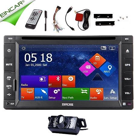Unidad principale estšŠreo Radio Audio Electrš®nica Nuevo Double DIN coche Bluetooth en el Moniteur de Dash HD 6,2 pulgadas TACTIL capacitiva de la cubierta de la pantalla del sistema de navegaciš®n GPS universel Soport