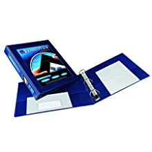 Avery Framed Presentation Ezd Locking Veiw Binder, 1in Capacity, Navy Blue (AVE68055)