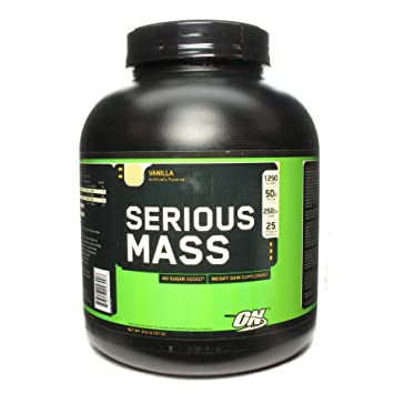Optimum Nutrition: Serious Mass Vanilla, 6 lb
