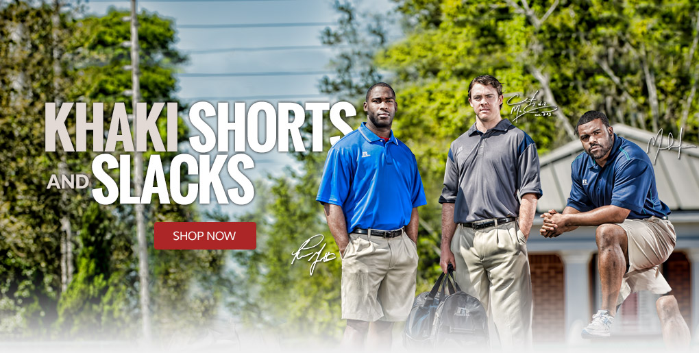 Russell Athletic Khaki Shorts and Slacks