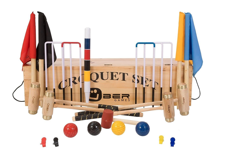 Übergames Junior Excecutive Krocket Set mit 4 Schlägern aus ECO Holz mit Holzbox bestellen