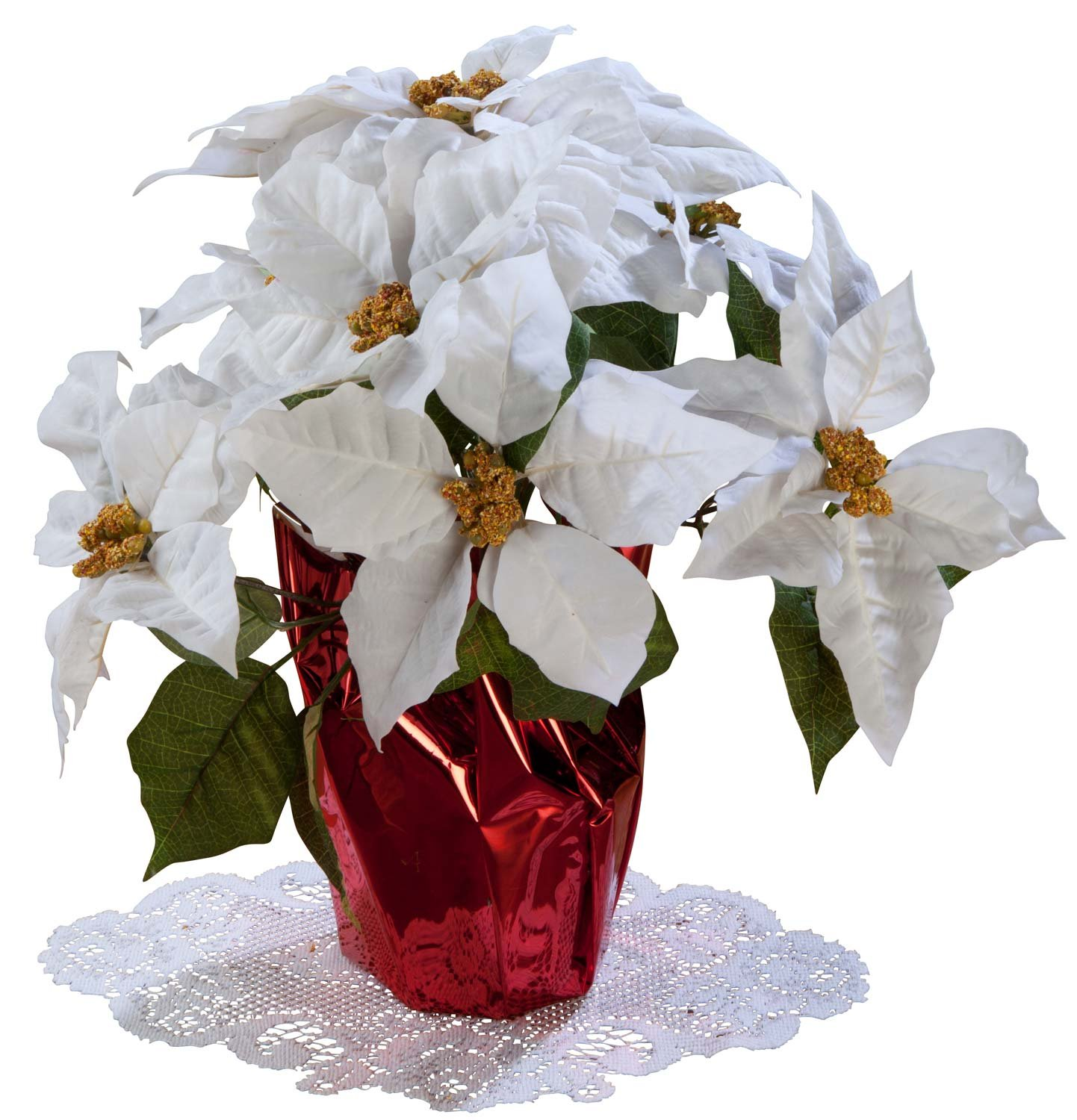 Artificial Poinsettia Arrangements Christmas Wikii