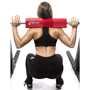 BEAR STRENGTH & CONDITIONING Barbell Squat Pad - Red (Color: Red)