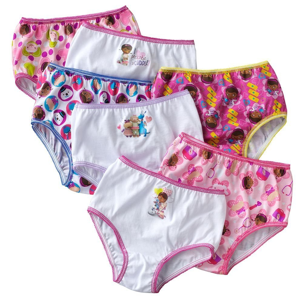 Disney Doc McStuffins Little Girls' Panty Pack - 7 Pack-7 Designs (2T-3T) halco rellik doc 7 75 12 2 5 f