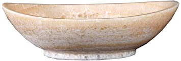 Virtu USA VST-2061-BAS Phoenix Vessel Sink with Natural Honey Onyx Marble