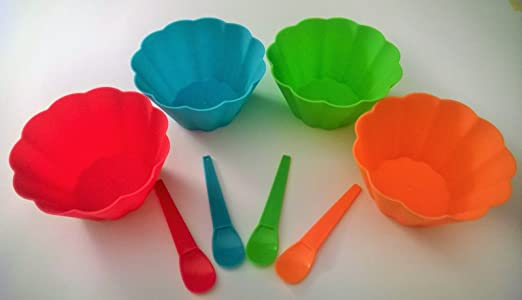 Colorful Ice Cream Bowls Colorful Ice Cream Bowls And