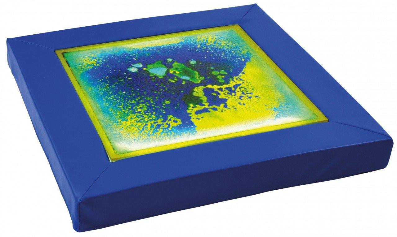 Faszinationspanel blau-gelb / Lichtplatte mit Schaumstoffrahmen + Netzteil / Maße: 70 x 70 x 7 cm / Lichtplatte 50 x 50 cm / Belastbar bis 30 günstig bestellen