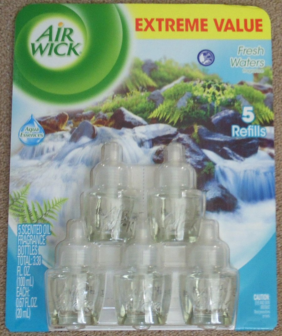 Air Wick 3.38 oz Fresh Waters 5 Piece Scented Oil Value Pack (Five 0.67 Oz Bottles) kitimp3105rac76938ea value kit impact telescopic lambswool duster imp3105 and neutra air fresh scent rac76938ea