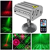 DJ Disco Lights Party Lights, U`King LED Projector Stage Light with Music Strobe Light by Remote Control Great for Dancing Club Bar Pub Lighting (Color: Silver party lights, Tamaño: party lights)
