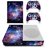 SKINOWN Skin Sticker for Microsoft Xbox One S Slim Console and Two Controllers (Color: P2)