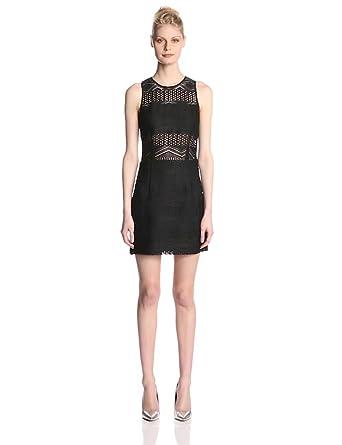 DV by Dolce Vita Women's Modesto Fancy Knit Sleeveless Dress, Black, X-Small