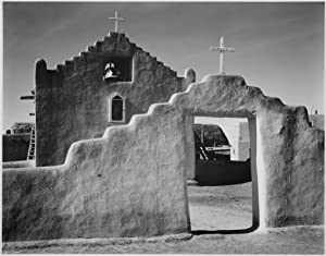 Church in Taos Pueblo, New Mexico by Ansel Adams