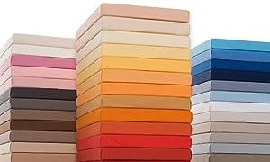 Bella Sephina Jersey Spannbettlaken, Hochwertige Wasserbetten Spannbetttücher 200x220 bis 200x240 cm, Farbe 0702  Orange    Überprüfung und weitere Informationen