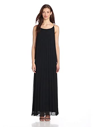 BCBGeneration Women's Maxi Knife Pleat Dress, Black, XX-Small