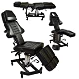 NEW Patented InkBed Hydraulic Client Tattoo Massage Bed Chair Table Ink Bed Studio Salon Equipment (Color: Black)