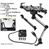 Mobotron MS-426-B Vehicle Laptop Mount Plus Screen Stabilizer Plus Cooling Fan Plus Supporting Brace