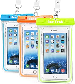 3-Pk. Ace Teah Universal Clear Cellphone Case Cover