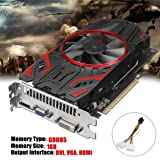 Graphics Card 1050, NXDA GTX 1050 1GB GDDR5 128Bit PCI-Express Game Video Graphics Card For NVIDIA for GeForce, VGA DVI HDMI (Black) (Color: Black, Tamaño: 16.5x15x8.5cm)