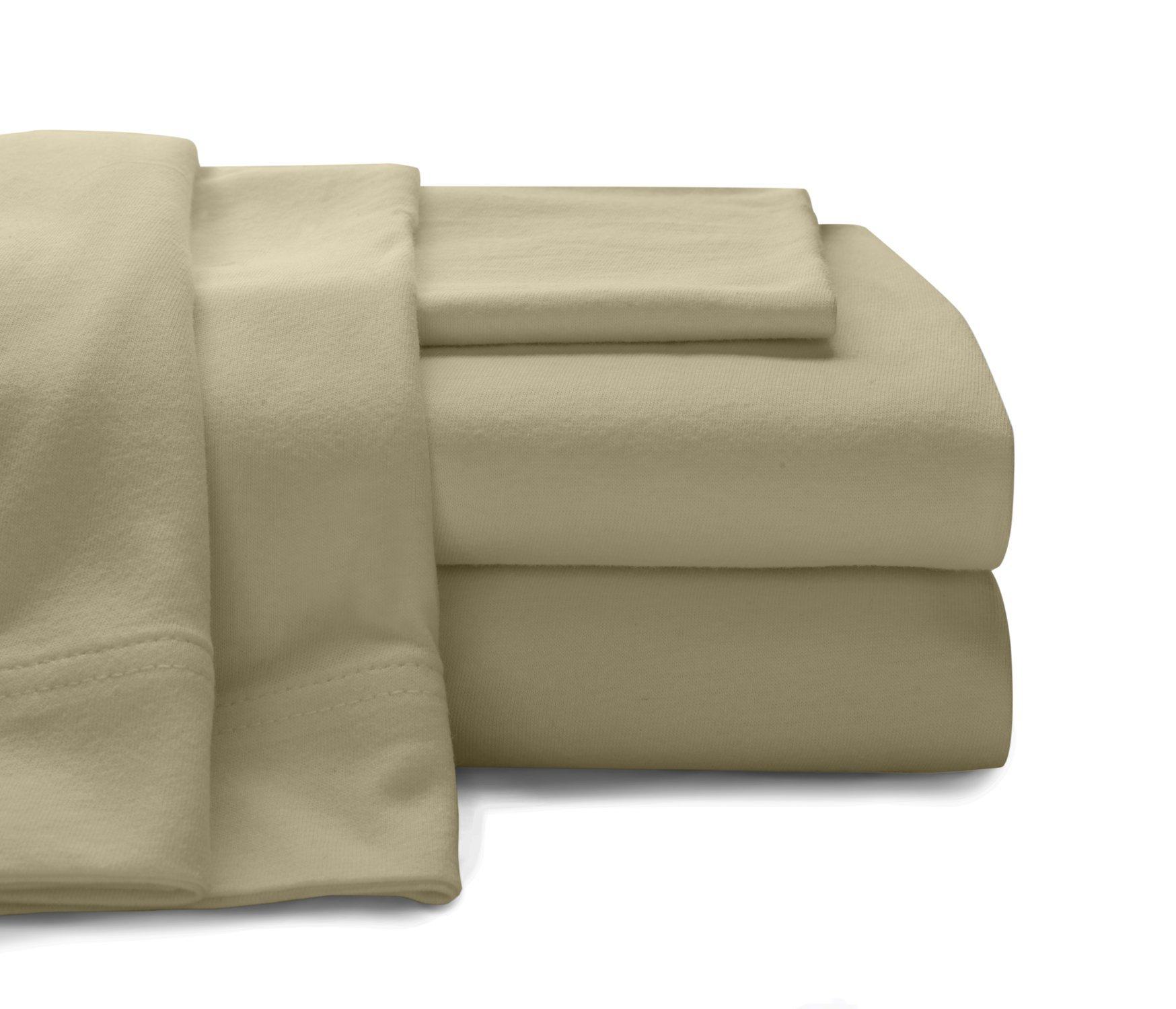 Baltic Linen Company Cotton Jersey Sheet Set Twin Taupe