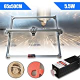 Adoner 5500MW 5.5W Mini Desktop Laser Engraving Machine 50X65CM DIY Logo Printer Fast!