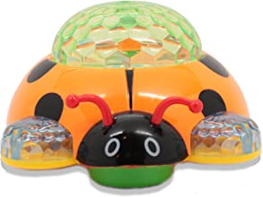Techege Battery Powered Lady Bug Toy- Flashing Spinning Lights Music Moves Around on Its Own and Cha
