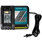 FLAGPOWER DC18RC Lithium-Ion Battery Charger for Makita 14.4V-18V Li-Ion Battery BL1830 BL1815 BL1840 150W High-Power Cooling Fan Inside (Tamaño: Batttery Charger)