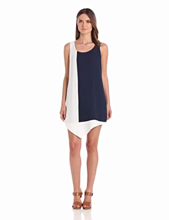 findersKEEPERS Women's In Your Pocket Dress, Navy/White, X-Small