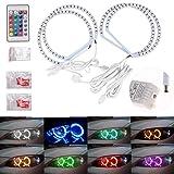 p 4131MM Multi-Color RGB LED Angel Eye Halo Rings Light for BMW E46 E38 E39 3 5 7 Series