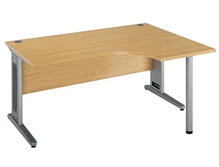 London Largo 72516001200 1800 R/H Ergo Desk - Beech