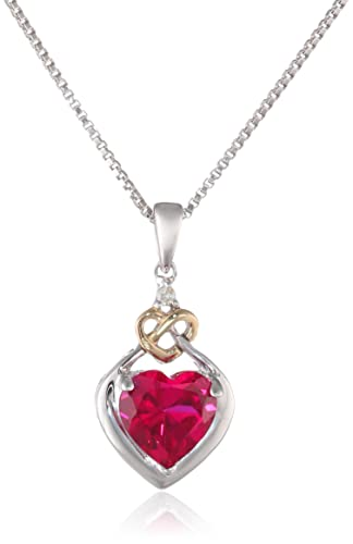 Love-Knot-Sterling-Silver-and-14k-Yellow-Gold-Diamond-and-Heart-Shaped-Created-Ruby-Pendant-Necklace-18-