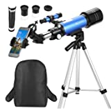 MaxUSee 70mm Telescope for Kids & Beginners, Travel scope with Backpack for Bird Watching Sightseeing, Spotting Telescope with Adjustable Tripod & Universal Smartphone Adapter